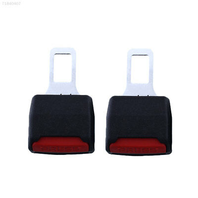 2x Car Seat Belt Extension Safe Buckle Kitty PVC Alarm Canceller Extender Black