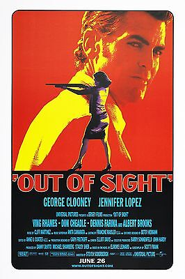 Out Of Sight (1998) Original Movie Poster  -  Rolled
