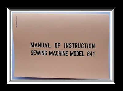JANOME NEW HOME Model 641 Free-arm sewing machine instruction Manual Booklet