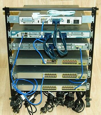 Cisco CCNA CCNP CCIE Lab Kit 3750 1841/2811/01 Free 12U Rack Stand + Guiding DVD