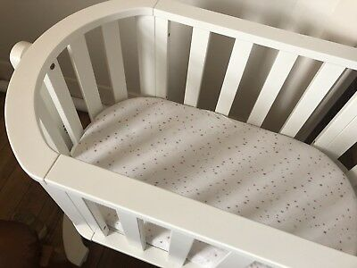 Bebe Care Baby Cot Bed Crib Bassinet White