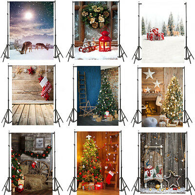 5x7FT Vinyl Studio Photography Backdrops Christmas Theme Background Happy Memory