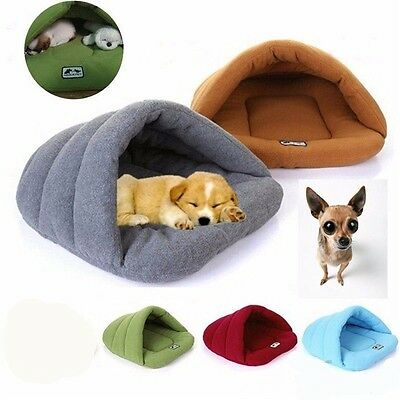 Pet Cat Dog Nest Bed Puppy Soft Warm Cave Sleeping Bag Mat Pad  XS S M L Hot