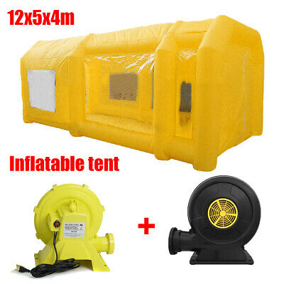 12M Portable Giant Cloth Inflatable Tent Workstation Spray Paint + 2 Blowers