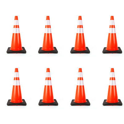 8x Traffic Cone 28 inch Reflective Emergency Road Safety Parking Cones USA STOCK