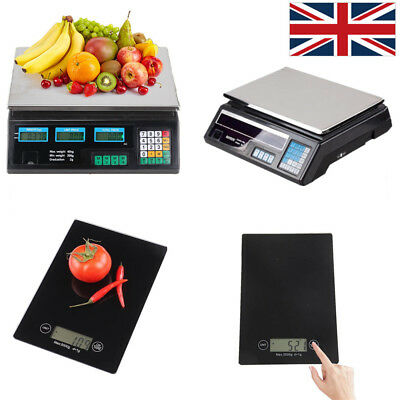 Kitchen Scale Digital Commercial Shop Electronic Food Weighing Scales Postal UK