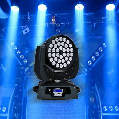 36X10W RGBW 4in1 LED Zoom Moving Head Stage-Lighting Beleuchtung Licht-Effekte