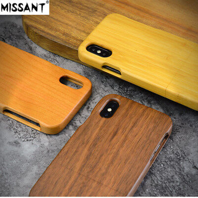 Original Natural Bamboo Cherry Walnut Wood Case for iPhone 5  6 7 8 X XR XS Max
