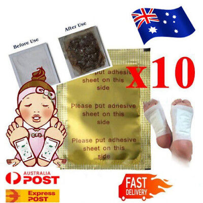 AU Detox Kinoki Foot Patch Pad Natural plant Herbal Toxin Removal Weight Loss