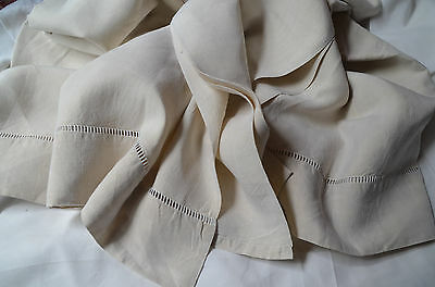 Antique French pure linen MG monogrammed trousseau/dowry sheet, hand embroidered