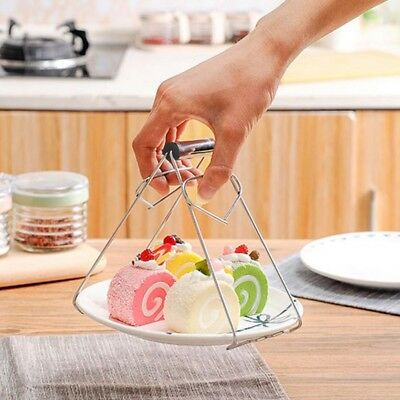 Hot Bowl Clip Plate Dish Holder Clamp Tong Tool Anti-Scald Kitchen Pot Gripper