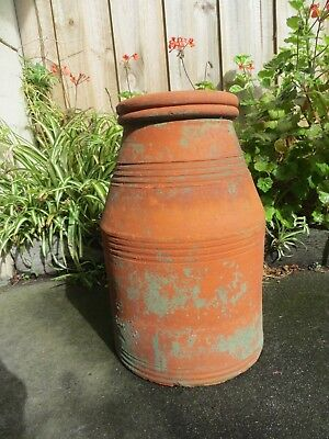 Decorative Large Terracotta Chimney Pot for use in the garden - pot or planter