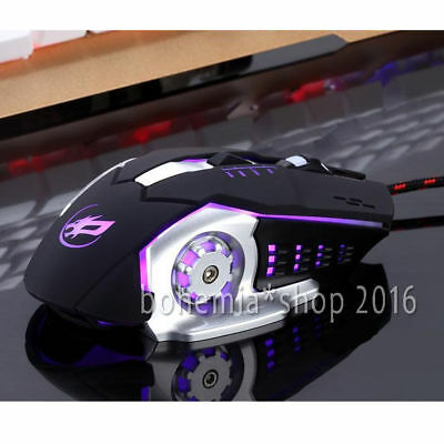 3200 DPI Optisch LED Beleuchtet Gaming Mouse Gamer Maus für PC Computer Laptop