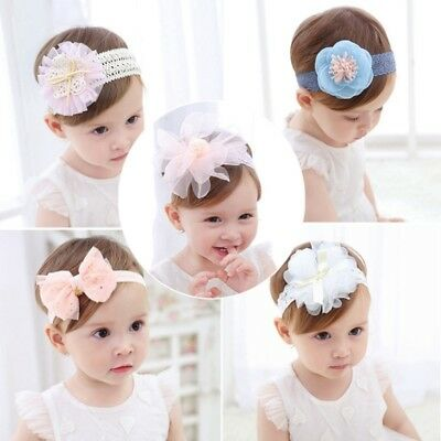 Baby Hair Band Girls Cute Lace Flower Headband Kids Toddler Headwear Accessories