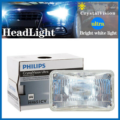 Philips Headlight 1PC Light Bulbs High Beam For 1976-85 Buick Electra