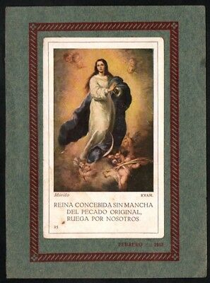 Image pieuse ancianne Virgin Inmaculada santino holy card andachtsbild