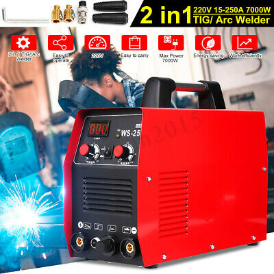250A 2IN1 TIG ARC MMA Welding Machine Argon Gas Stick Welder IGBT Inverter 220V