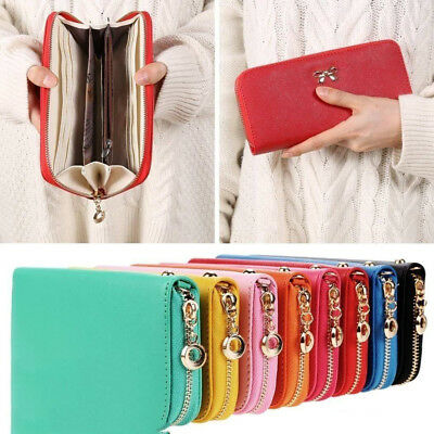 Bowknot Wallet Long Purse Phone Card holder Clutch Pocket For Women Gift AU