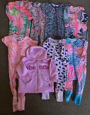Bonds Bulk Lot Of 8 Disney Vintage Wondersuits Rompers Jacket Size 00 3-6m Girls
