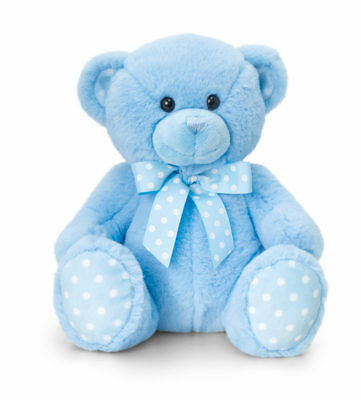 Personalised Teddy Bear - Great Personalised Christening Gift - New Baby Boy