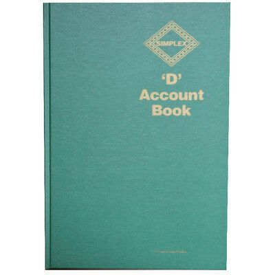 Simplex D Accounts FullYear Record Accounting Business Records Tax Account Book