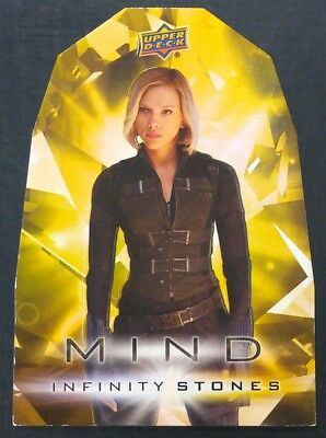 2018 Upper Deck Avengers Infinity War Mind Stones Die Cut #YM3 Black Widow 1:240