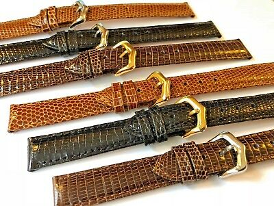 Genuine Lizard Leather Watch Strap for Cartier Omega Longines 14,15,16,17mm
