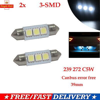 T10 Car Bulbs Led Error Free Canbus Smd Xenon White W5W 501 Side Light Bulb