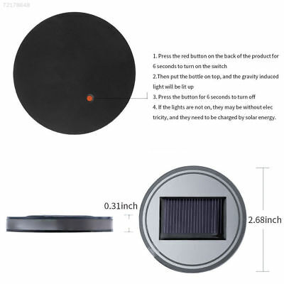 E07A 2PC Solar Cup Pad Car Accessories LED Light Cover Interior Decoration Light