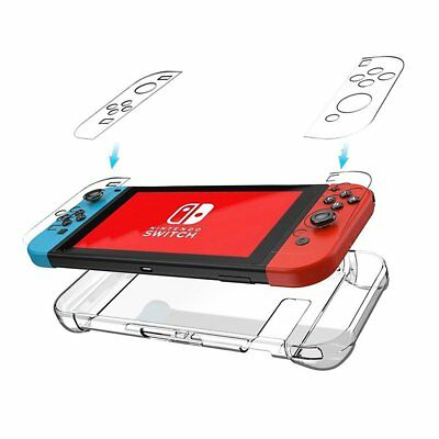 For Nintendo Switch Clear Hard Case Shockproof 3-Part Design Protective Cover