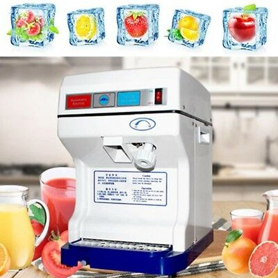 Ice Maker Shaver Machine Electric Tabletop Shaved Ice Crusher Snow Cone Party