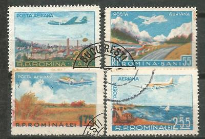 ROMANIA Scott # C45-48 used 1956