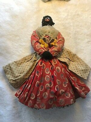 Antique Black Americana Doll Whisk Broom Original Clothing Unknown Face