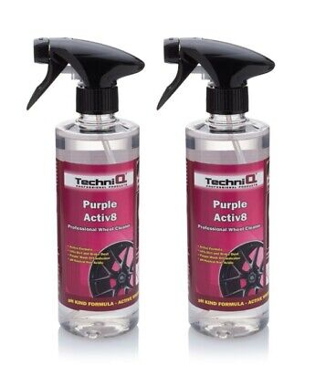 2 x Alloy Wheel Cleaner PURPLE Colour Changing IRON FALLOUT NON ACID
