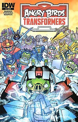 Angry Birds Transformers Comic 4 Standard Cover IDW 2015 Barber Ferreira Koutsis