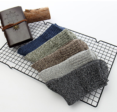 1pc Men Wool Cashmere Thick Warm Soft Solid Casual Sports Socks Winter New