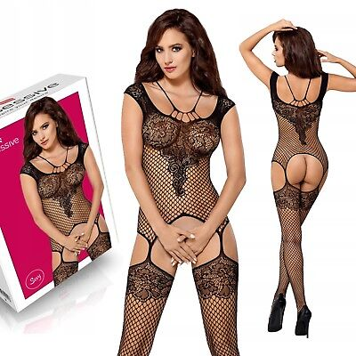 HOT Playsuit Sexy Body Stocking Bodysuit Catsuit Lingerie Fishnet Camisole Lace