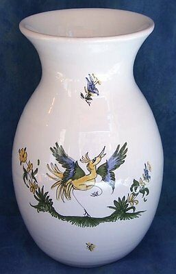 Vase rond M PEINT MAIN EN FAIENCE DE MOUSTIERS ART CERAMIQUE pot