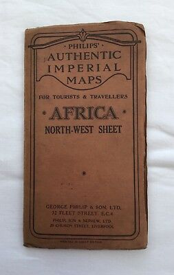 Vintage Philips Imperial Map Africa North West