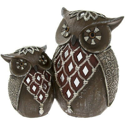 Owl with Baby Ornament Figurine Home Decoration Christmas Gift Design