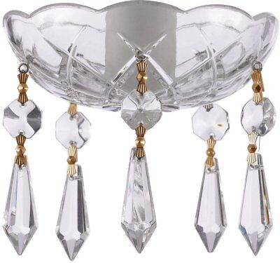 Asfour 30% Lead Crystal Bobeche with Icicle Chandelier Crystals Lamp Parts