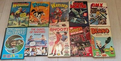Joblot of annuals WARLORD FOR BOYS ANNUALS dukes of hazard, galactica, sport BMX