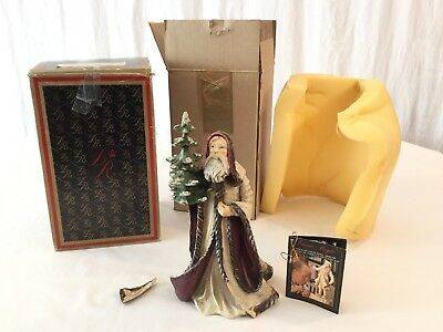 "Duncan Royale Kris Kringle 8"" Hand Carved Signed Wood #340/500 1st Edition"