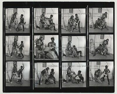 3 Fetish Girls & A Prison Cell / Complete Series 3/8  (Vintage Contact Sheet B/W