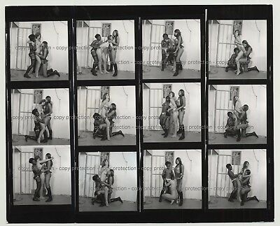 3 Fetish Girls & A Prison Cell / Complete Series 7/8  (Vintage Contact Sheet B/W
