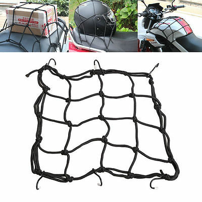6 Hooks Hold Down Cargo Luggage Helmet Net Mesh for Motorcycle Motorbike LAMOPCC