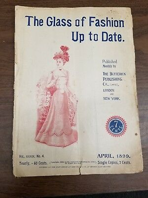 The Glass of Fashion 1899 Butterick Co Clothing Sewing Pattern Catalog Magazine