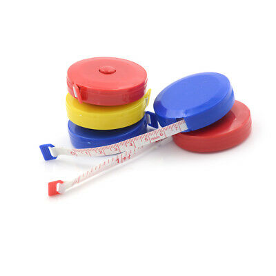 "5Pcs Retractable Body Measuring Ruler Sewing Cloth Tailor Tape 60"" 1.5M HKPCC"