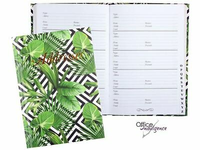 GREEN FOLIAGE Address Book A-Z Casebound 130 x 100mm 72Leaf Cumberland 766903*