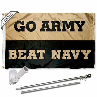 Army Black Knights Beat Navy Flag Pole and Bracket Gift Package